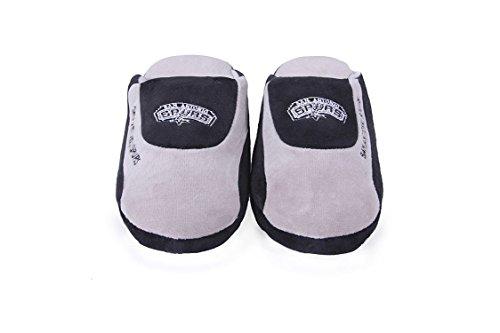 Happy Feet Og Behagelige Føtter Menns Og Kvinners Offisielt Lisensierte Nba Lave Pro Tøfler San Antonio Spurs