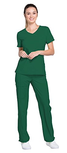 Cherokee Infinity Women's Scrub Set – 2625A Mock Wrap Top & 1124A Low Rise Slim Pull-On Pant