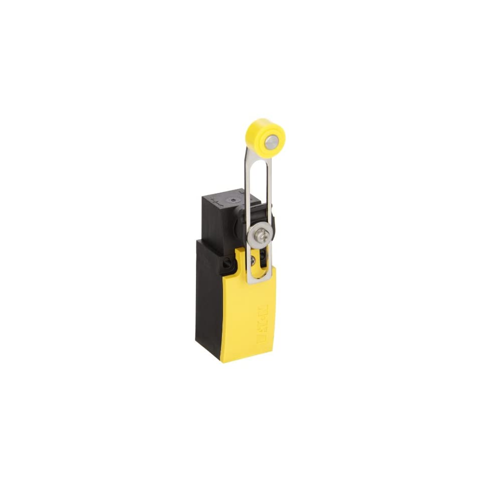Eaton LS S02 RLA Miniature DIN Limit Switch, Screw Termination, Adjustable Roller Lever Actuator Type, Plastic, 2NC Contacts