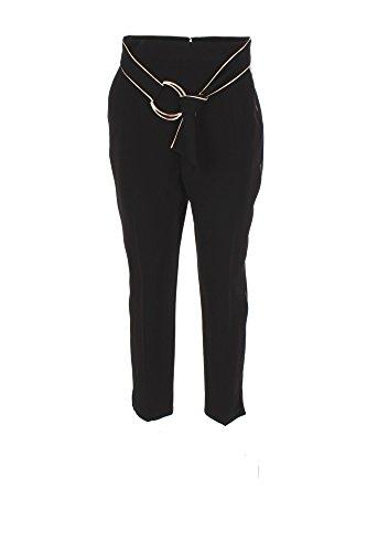 Pantalone Donna Elisabetta Franchi 42 Nero Pa02876e2 Autunno Inverno 2017/18