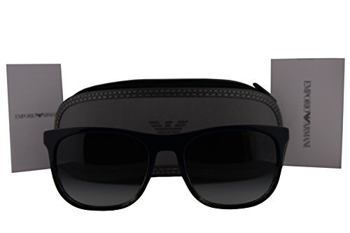 9cea9090f45 Emporio Armani Black with Light Gray Mirror Lens Sunglasses (50176G ...