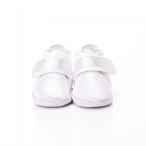 Toma - Patucos de raso para niño White - WHITE