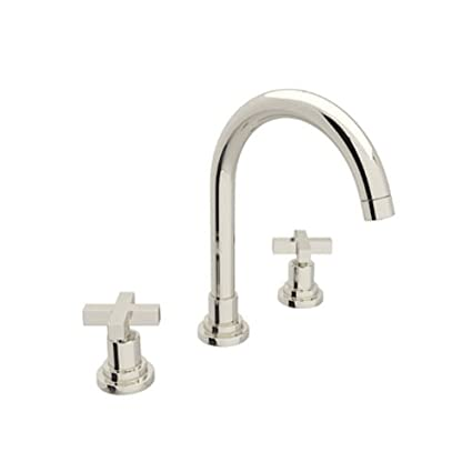Incroyable Rohl A2208XMPN 2 A2208Xm 2 Lombardia Widespread Bathroom Faucet With Metal  Cross Handles, Polished Nickel   Touch On Bathroom Sink Faucets   Amazon.com