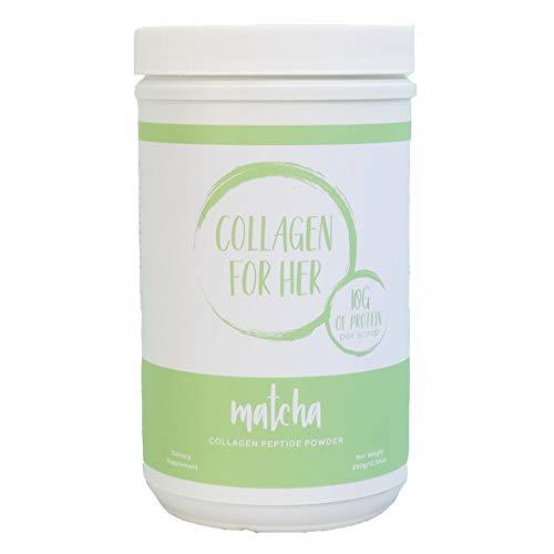 (Collagen For Her Organic Matcha Collagen - Organic Green Tea (Matcha) & Grass-Fed Pasture Raised Hydrolyzed Collagen Peptides (12.34oz)   )