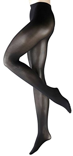 Falke Womens Pure Matte 50 Denier Semi-Opaque Matte Tights - Black - Small/Medium
