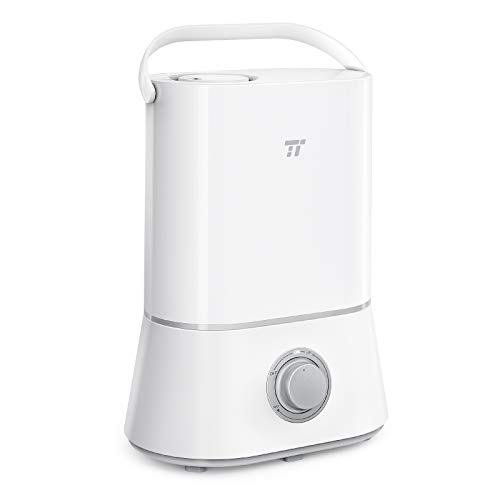 TaoTronics Humidifiers, 4L Cool Mist Humidifier for Bedroom Home Baby, 12-50 Hours, Quiet Operation, Easy to Clean, 360 Nozzle, Waterless Auto Shut-Off (4L/1.06 Gallon US 110V)