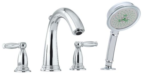 Hansgrohe 06123000 Swing C Trim 4-Hole Roman Tub Set,Polished (Hansgrohe Swing Roman Tub Faucet)