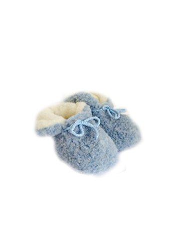 Karbaro - Patucos de Lana para niña Azul - azul