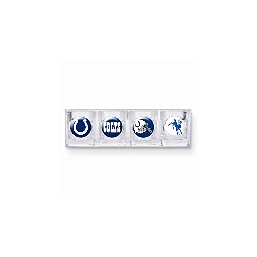 - NFL Indianapolis Colts Four Piece Square Shot Glass Set (Individual Logos)