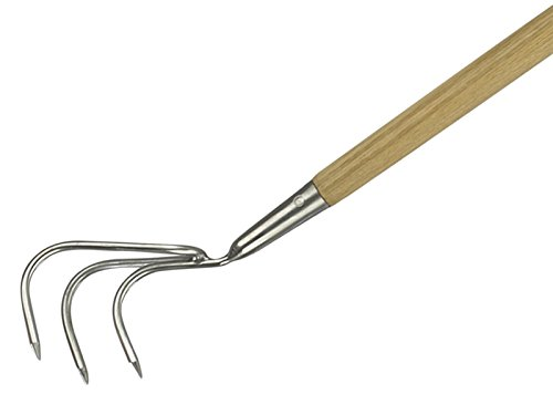 Long Handled 3 Prong Cultivator Stainless Steel