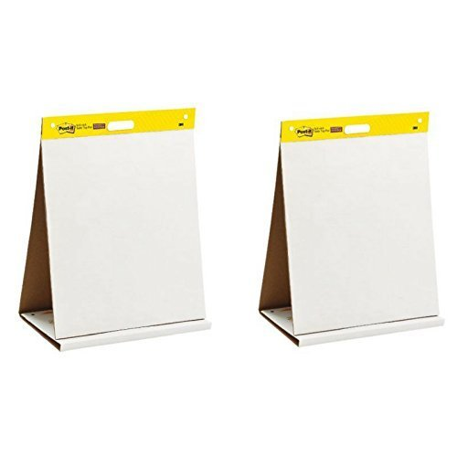 Post-it Self-Stick Tabletop Easel Pad, 20'' x 23'', 20 Sheets/Pad - 2 Pads