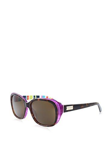Kate Spade Sunglasses - Hilde P / Frame: Tortoise Purple Striped Lens: Dark Brown Polarized-HildePSX72P