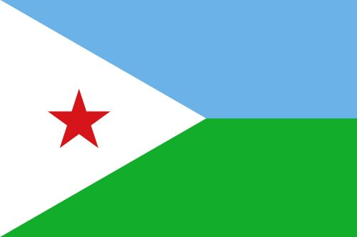 Djibouti National Country Flag - 3 foot by 5 foot Polyester (New) by Fifi
