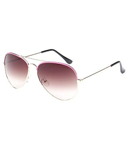 Sol UV400 única de MissFox y Sunglasses Talla Gafas Rosado Vintage Retro Hombre Piloto Mujer Lente para 7EaqPa