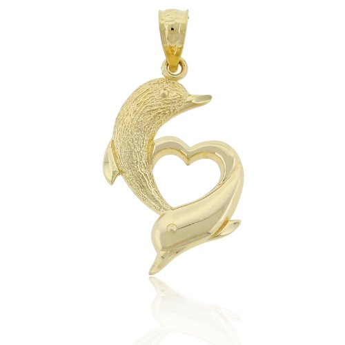 10k Gold Heart Charm - 4