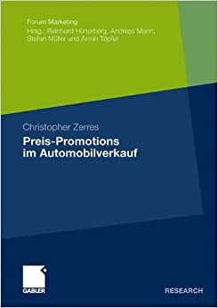 Preis-Promotions im Automobilverkauf (Forum Marketing)