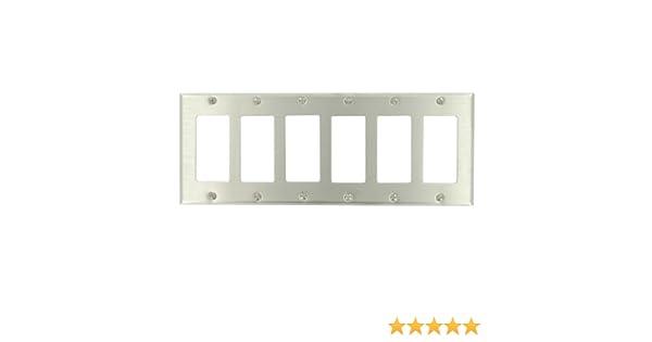 Leviton White 6-Gang Decora Wallplate GFCI GFI Switch Cover 80436-W
