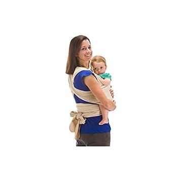 BEBEMOOI Echarpe de portage porte bébé coton naturel Echarpe de portage  Mixte Beige 78571764b10