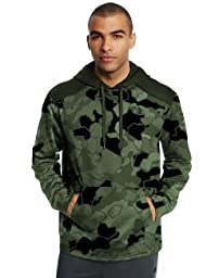 Champion Men\'s Performance Fleece Pullover Hoodie, Service Green Faster Asteroid, M