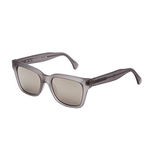 Super Unisex America Fantom Matte Grey Crystal/Silver Mirror Lens - Retrosuperfuture Sunglasses Super