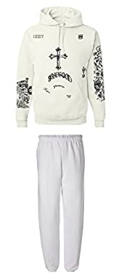 Allntrends Set Of 2 Justin Bieber Tattoo Hoodie And Sweatpants Son Of God