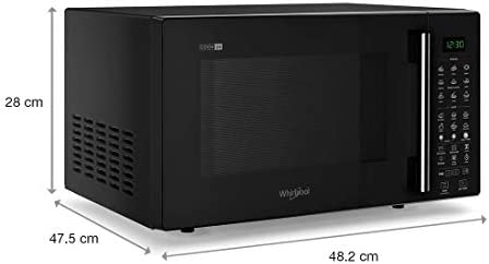 (Renewed) Whirlpool 24 L Convection Microwave Oven (MAGICOOK PRO 26CE BLACK, WHL7JBlack)
