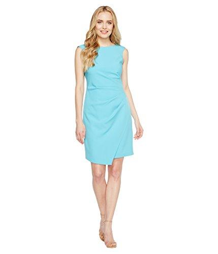 破壊的肩をすくめるクリープ[アドリアナパペル] Adrianna Papell レディース Scissor Hem Side Drape Dress with Bateau Neck ドレス Pacific Blue 10 [並行輸入品]