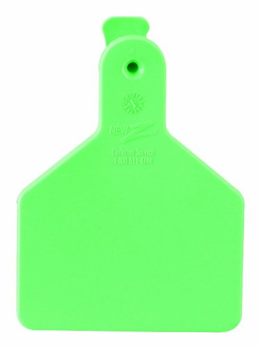 Z Tags 100 Count 1-Piece Blank Tags for Calves, Green by Z Tags