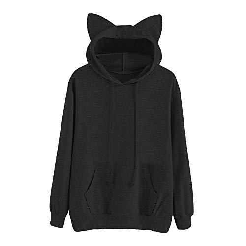 HYIRI Hoodie Sweatshirt Hooded,Womens Cat Long Sleeve Pullover Tops Blouse (Poker Boxers)