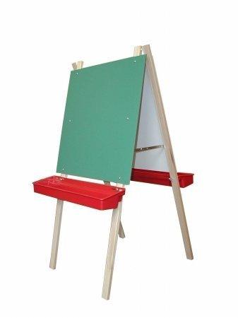 Beka 01300 Leg Brace Easel, chalkboard, markerboard, red trays