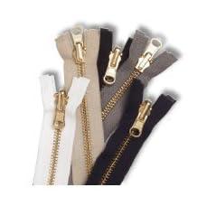 "Zipper #5 Brass Reversible 28"" - Medium Grey"