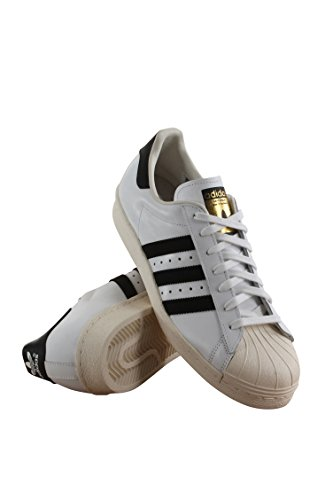 G61070 MEN SUPERSTAR 80S ADIDAS WHITE/ BLACK by adidas