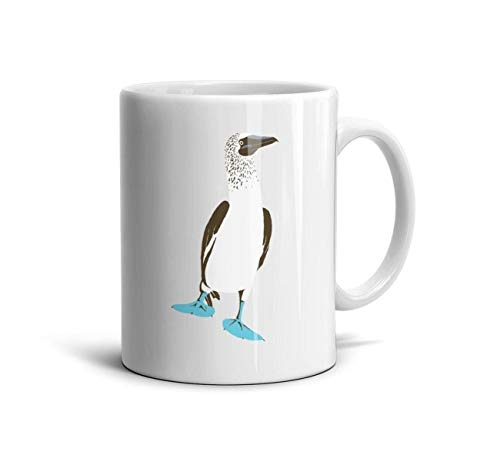 UHOMEW White Ceramic Cup Blue-Footed Booby 11 Oz Funny Mug
