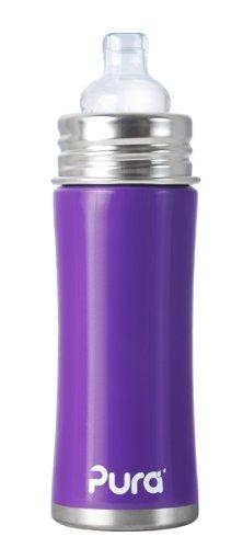 Amazon.com: Pura Kiki – Biberón de Sippy Botella de acero ...