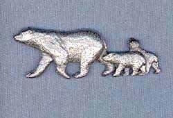 Polar Bear Pin - Harris Pewter Pin