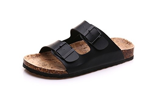 Student's cork donne bambini's beach Le Estate 39 pantofole ganci due on di antiscivolo piatto slip XIAMUO nero coreane flip sandali flop wqO6Iwp
