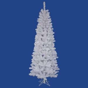 Vickerman White Salem Pencil Pine Tree with 217 Tips, 4.5-Feet by 24-Inch by Vickerman