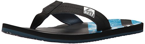 Reef Print Sandals - Reef Men's HT Prints Sandal, Water Blue, 11 M US