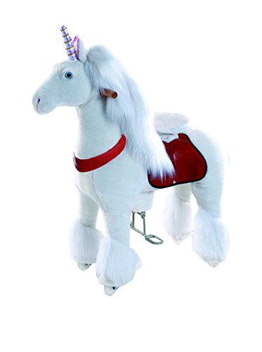 (Smart Gear Pony Cycle White Unicorn Ride on Toy:  2 Sizes:  World's First Simulated Riding Toy for Kids Age 4-9 Years Ponycycle Ride-on Medium)