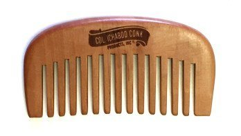 Col Ichabod Conk Handcrafted Beard Comb 4 with Free unbreakable course/fine pocket (3.875 Pocket)
