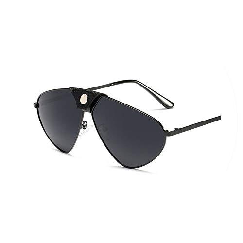 2019 Luxury pilot sunglasses women men polarized glasses driving sunglasses vintage rivet eyewear,black ()