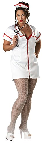 [UHC Women's Temperature Rising Nurse Outfit Adult Fancy Dress Plus Size Costume, XL (16-18)] (Plus Size Fancy Dress Costumes Cheap)