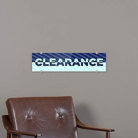 5-Pack CGSignLab 24x6 Stripes Blue Premium Acrylic Sign Clearance
