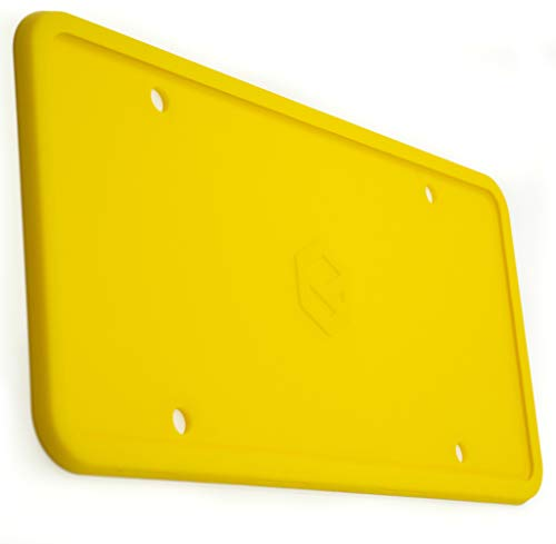 Rightcar Solutions Flawless Silicone License Plate Frame – Rust-Proof. Rattle-Proof. Weather-Proof. – Yellow