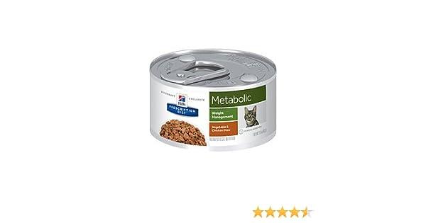 Amazon.com : Hills Prescription Diet Metabolic Weight Management Vegetable & Chicken Stew Canned Cat Food 24/2.9 oz : Pet Supplies