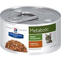 Hills Prescription Diet Metabolic Weight Management Vegetable & Chicken Stew Canned Cat Food 24/2.9