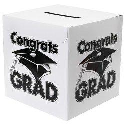 Fun Express White Congrats Grad Money Gift Card Box Graduation Party]()
