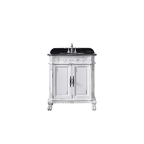 - Ove Decors Trent 30 Antique White Gold Brush Freestanding Vanity, 30'',