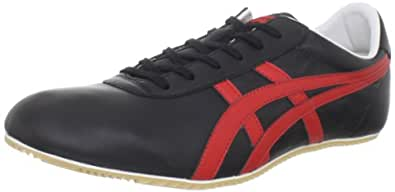 Onitsuka Tiger Tai Chi Fashion Sneaker,Black/Red,14 M US Women's/12.5 M US Men's