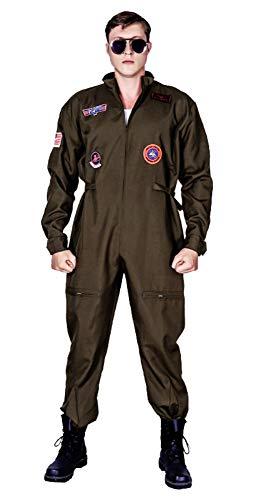 Men's Air Force Fighter Pilot Adult Costume Jumpsuit ()